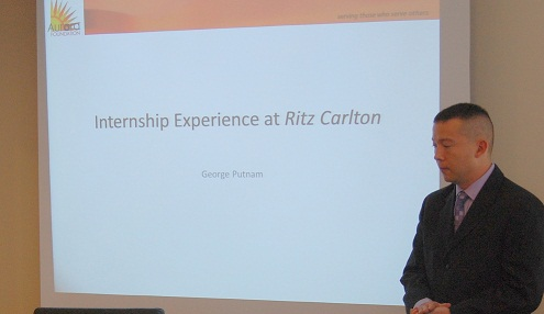 """It was the best phone call I ever made."" - George PutnamAurora Intern at Ritz-Carlton, Tysons' Corner"