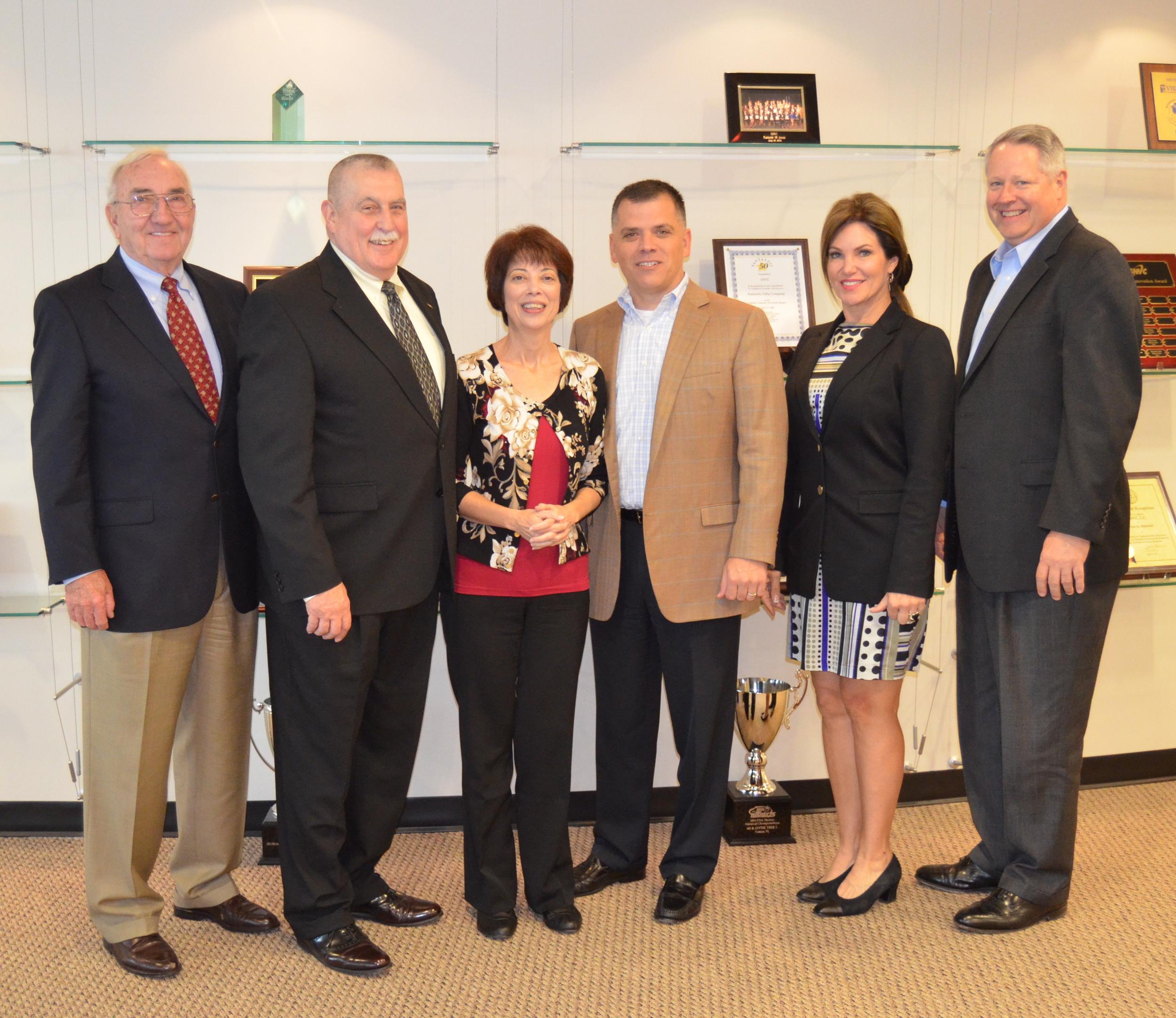 From Left: Board Members Ron Griffith, Tom Leavitt, UNC Representative  Ann Marie Beall, Board Members Mike Johnson, Lisa Spoden, and Tom DeWitt