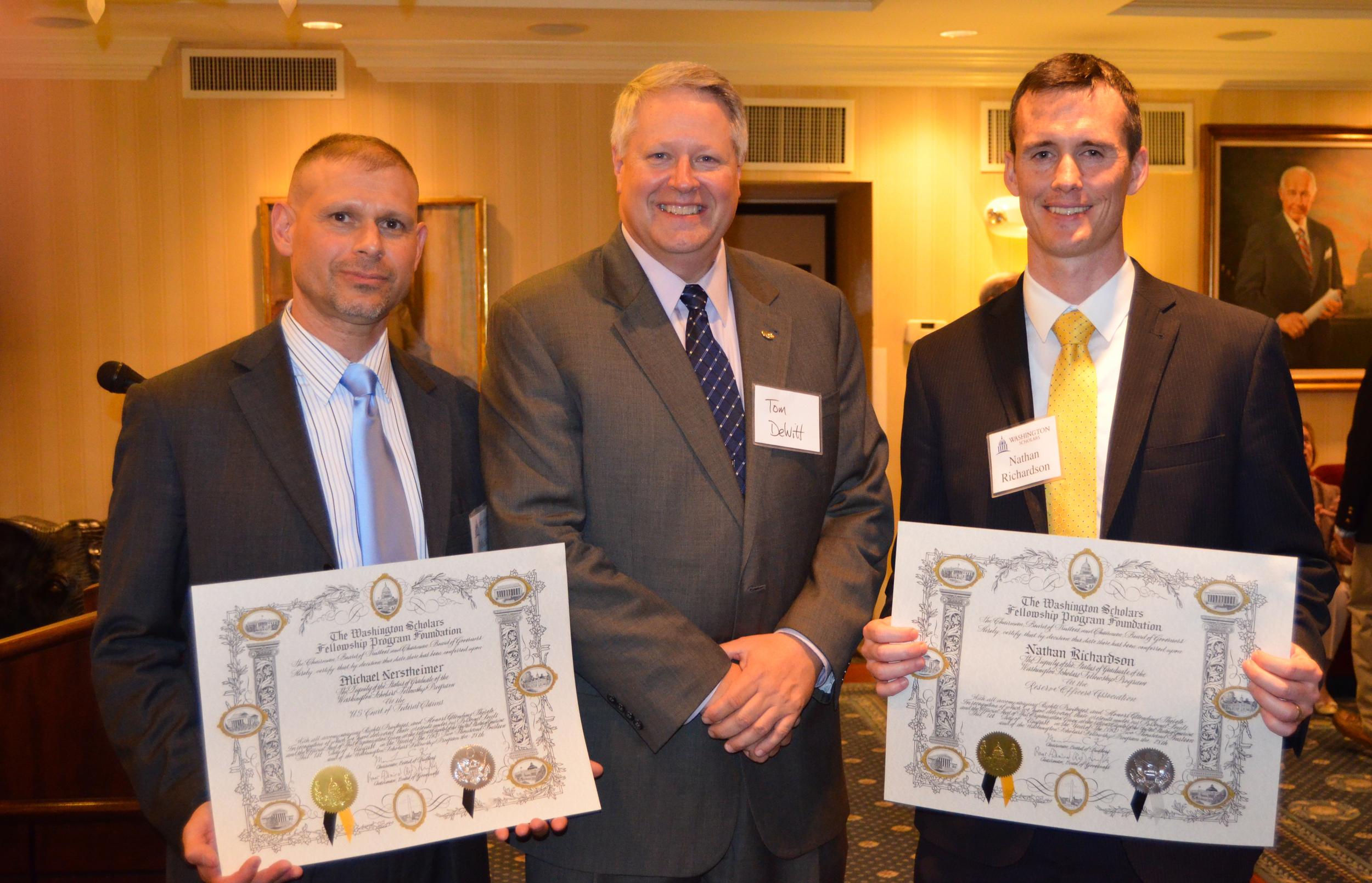 Michael Nerstheimer, Law Student at George Washington University; Tom DeWitt, Aurora Chairman; Nathan RIchardson, Law Student at George Washington University