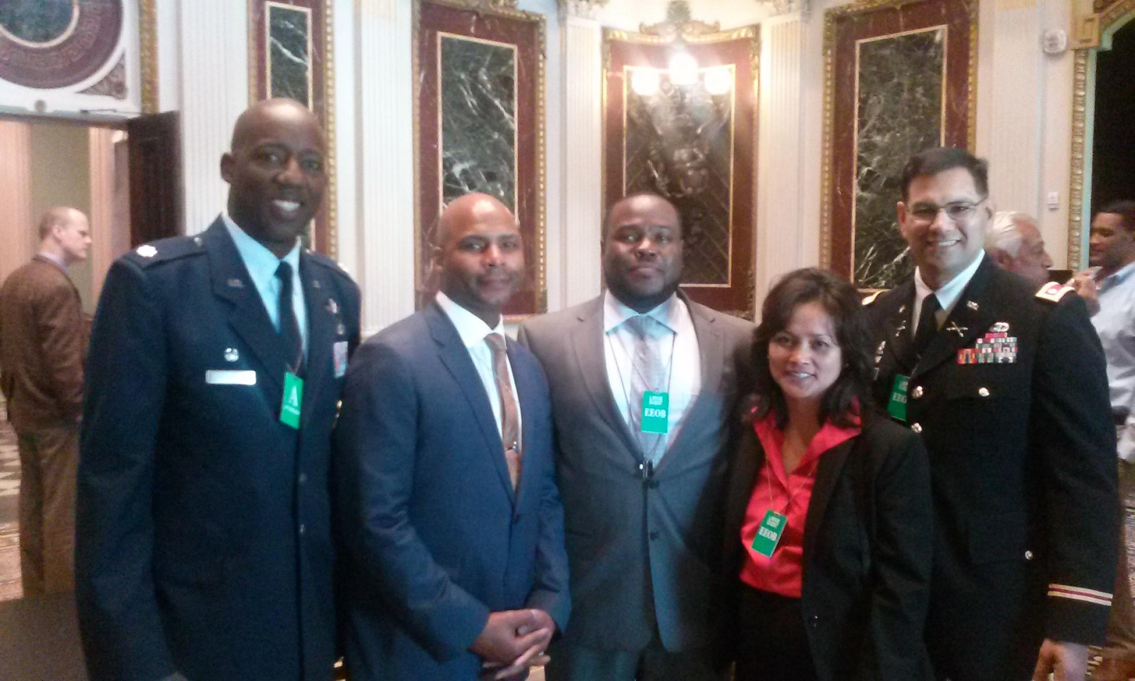 Antione (Center) with White House Representatives in DC, honoring veterans in entrepreneurship