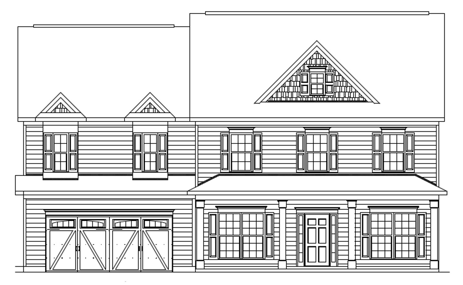 The jefferson front elevation