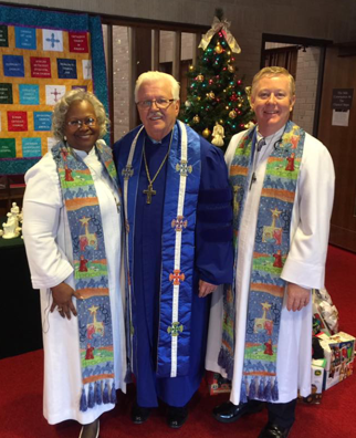 Rev. Dr. Ramonia Lee, Rev. Dr. Robert Perry and Rev. Dr. Woodie Rea