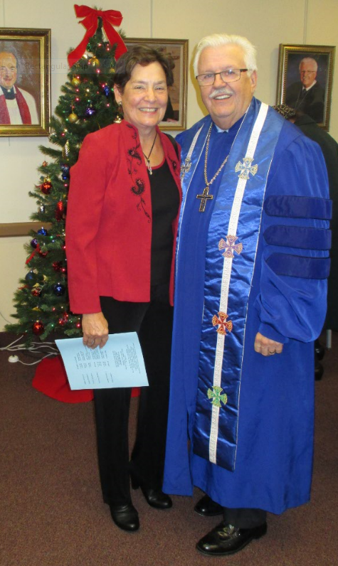 Dr. Karen Bartman, retired minister of music and Rev. Dr. Robert perry