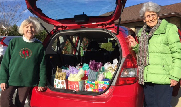 gift bags for Sophia house residents