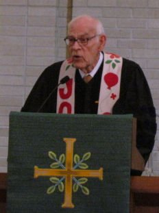 Dr. Ed Bauman, former minister of Foundry United Methodist church, delivered the sermon.