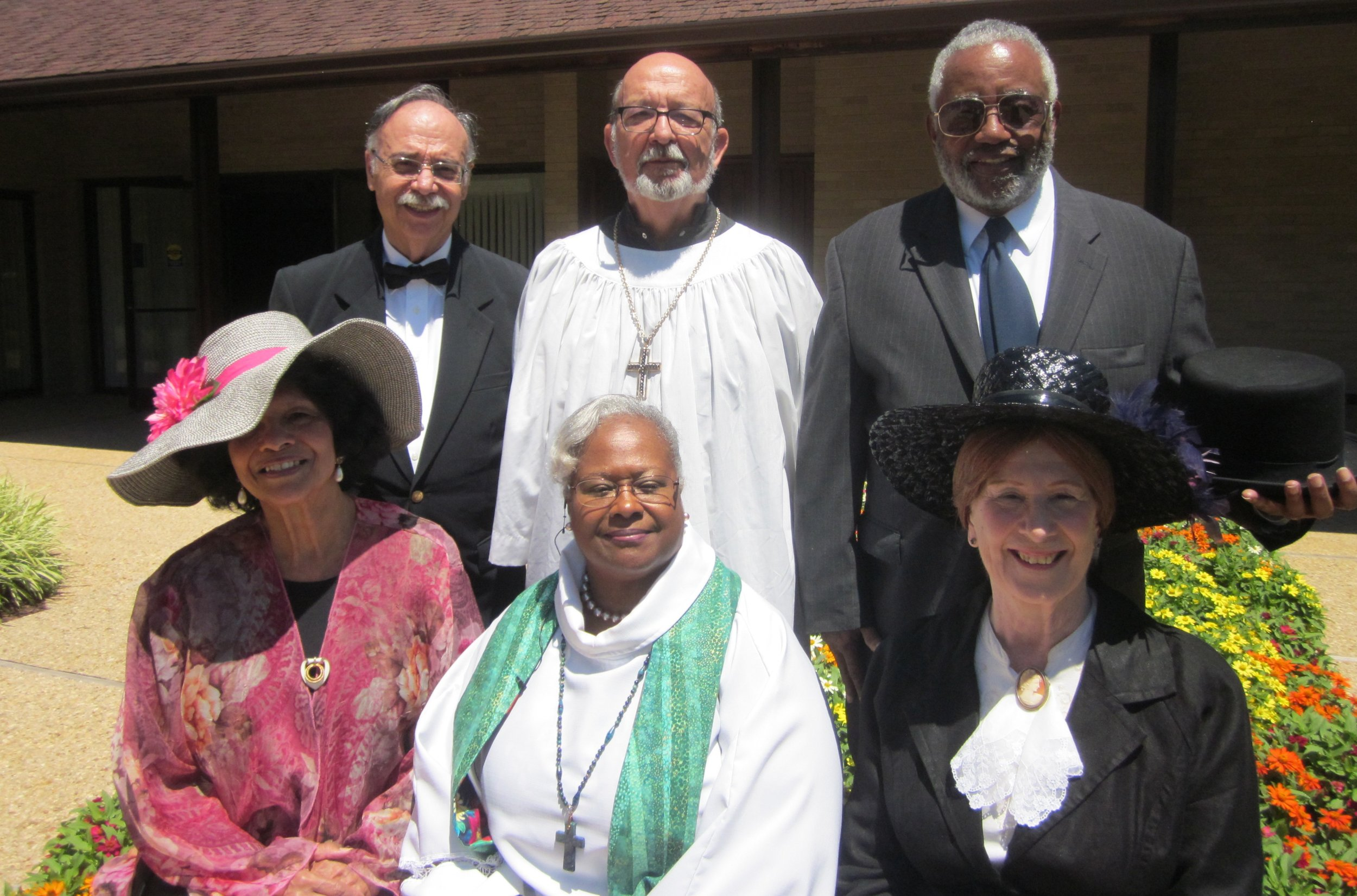 The hymn writers with Rev. Dr. Ramonia Lee