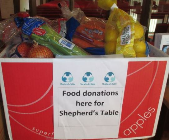 food drive for shepherd's table