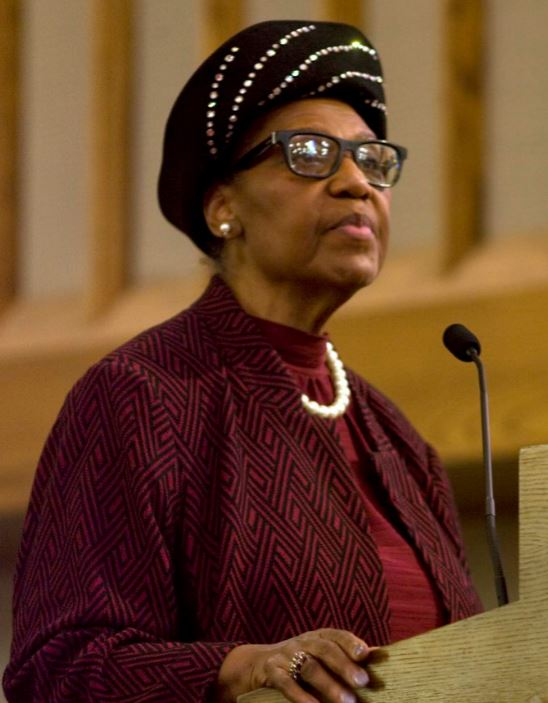 Dorothy Height as portrayed by Rev. Diane Hugger