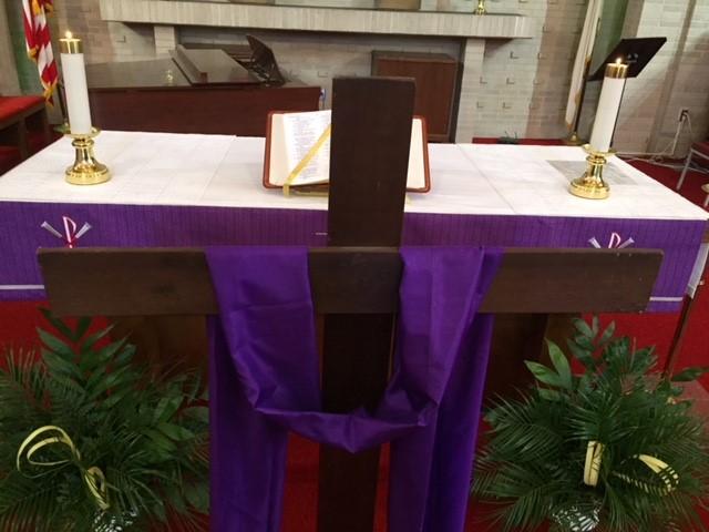 Altar on Palm Sunday