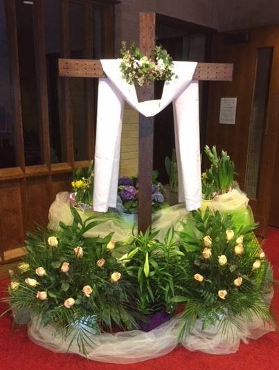 Cross on Easter morning