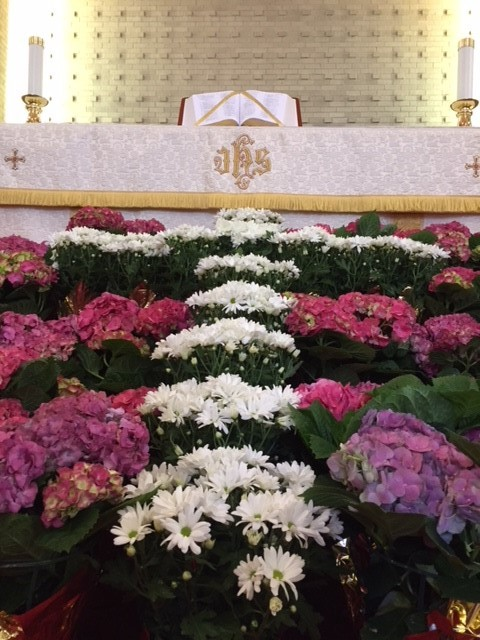 Easter morning flowers