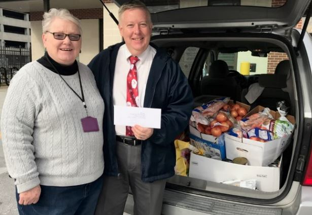 December 2017 donations to Shepherd's Table of Thanksgiving Eve Offering and Fresh Produce