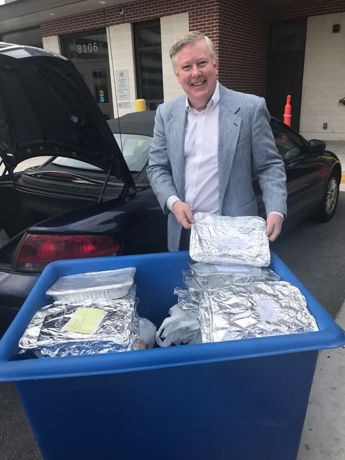 Casserole donations to Shepherd's Table in March 2018