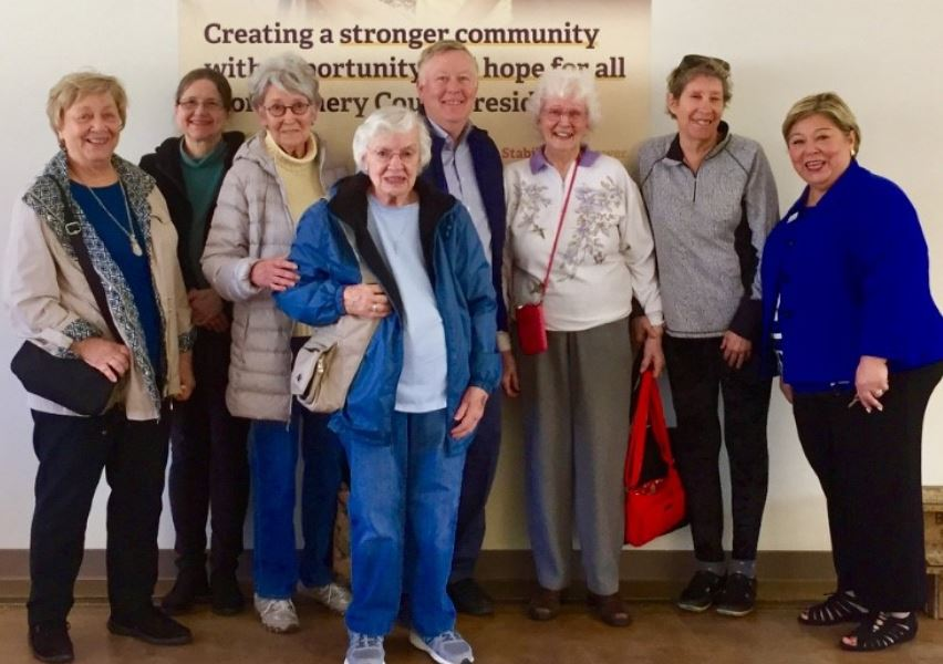 missions committee visit to interfaith works in april 2018