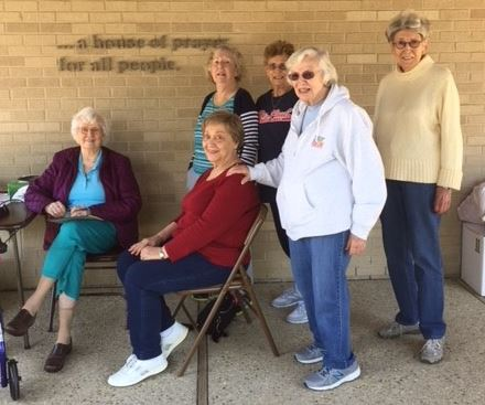 Missions Committee at the Bedding Drive in May 2018
