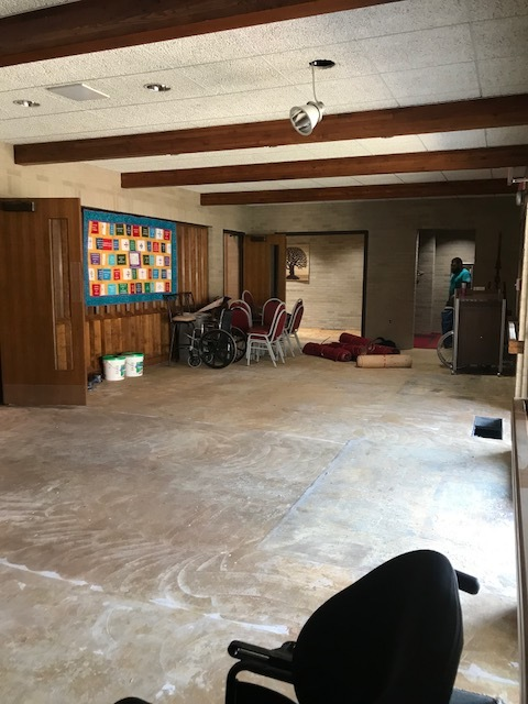 As of Wednesday, August 15, the narthex is a work in progress!