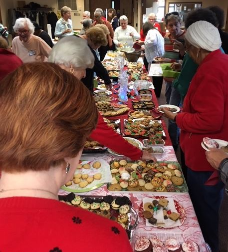 Christmas cookies at INter-Faith Women's Meeting
