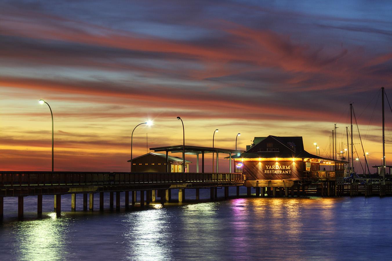 Sunset at Fairhope, Alabama Pier