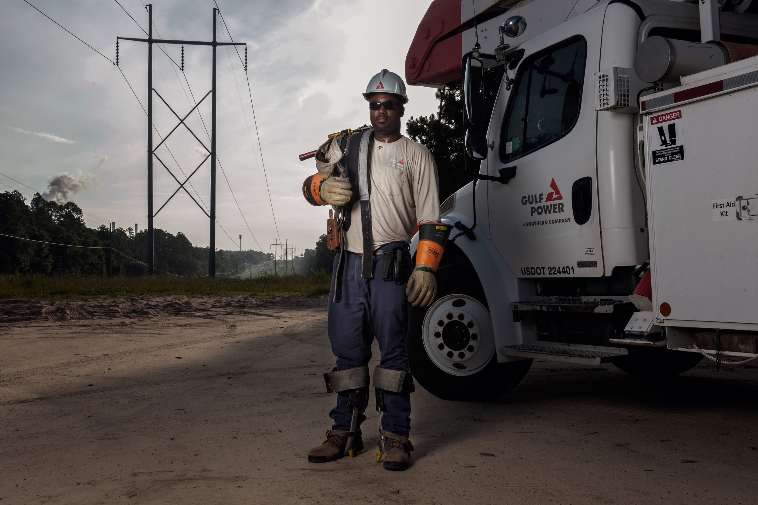 Gulf Power Lineman Dimitric in Pensacola, Florida