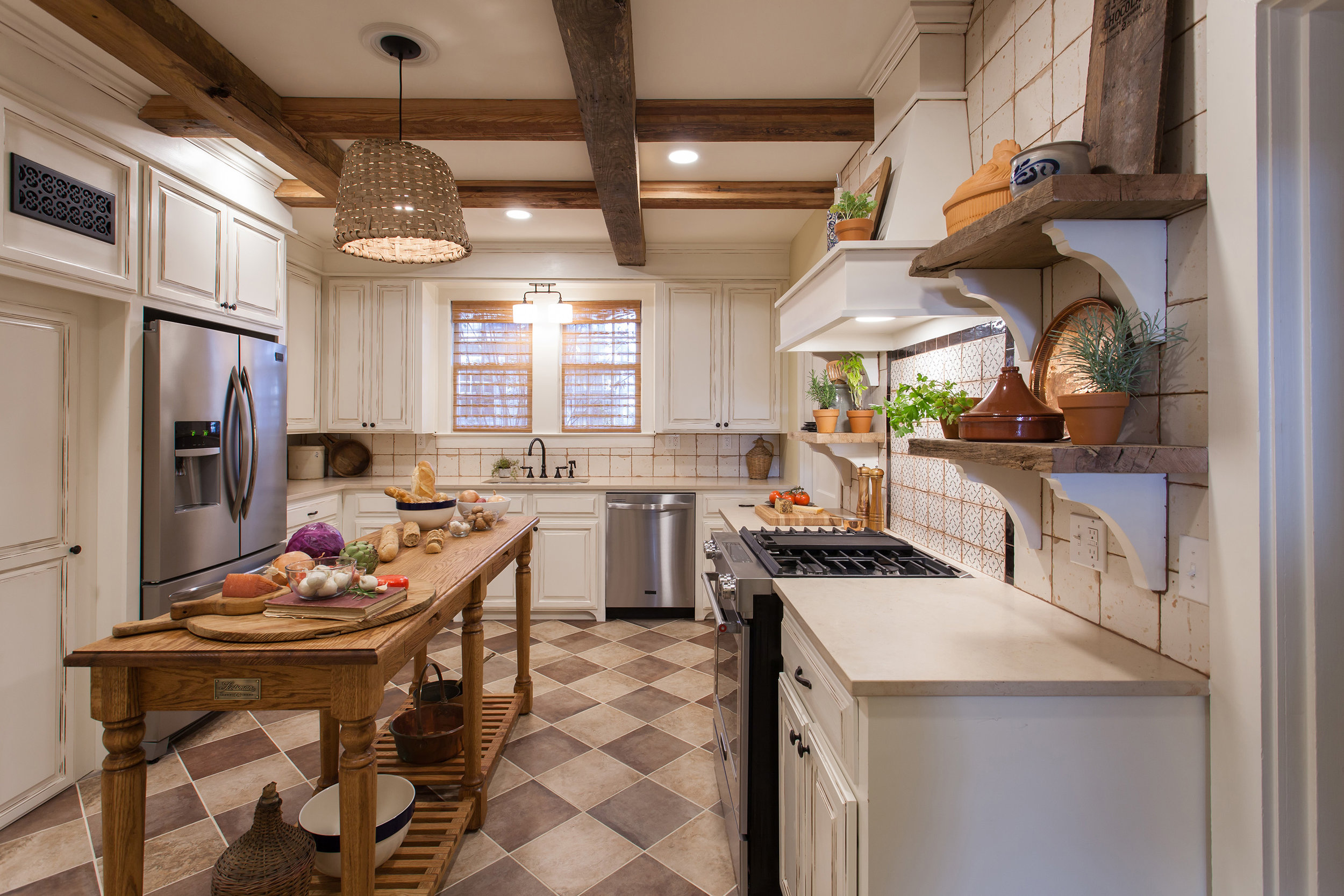 Renovated Kitchen Design - French Country