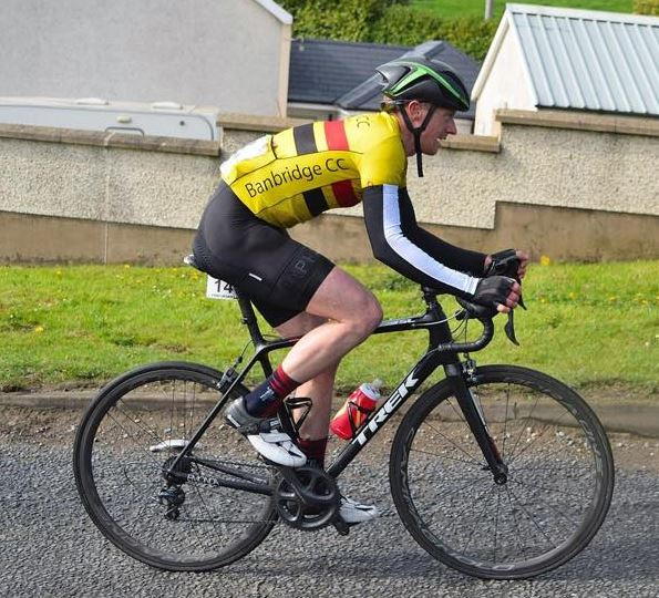 Roger Aiken in action at the 2017 Tour of the North