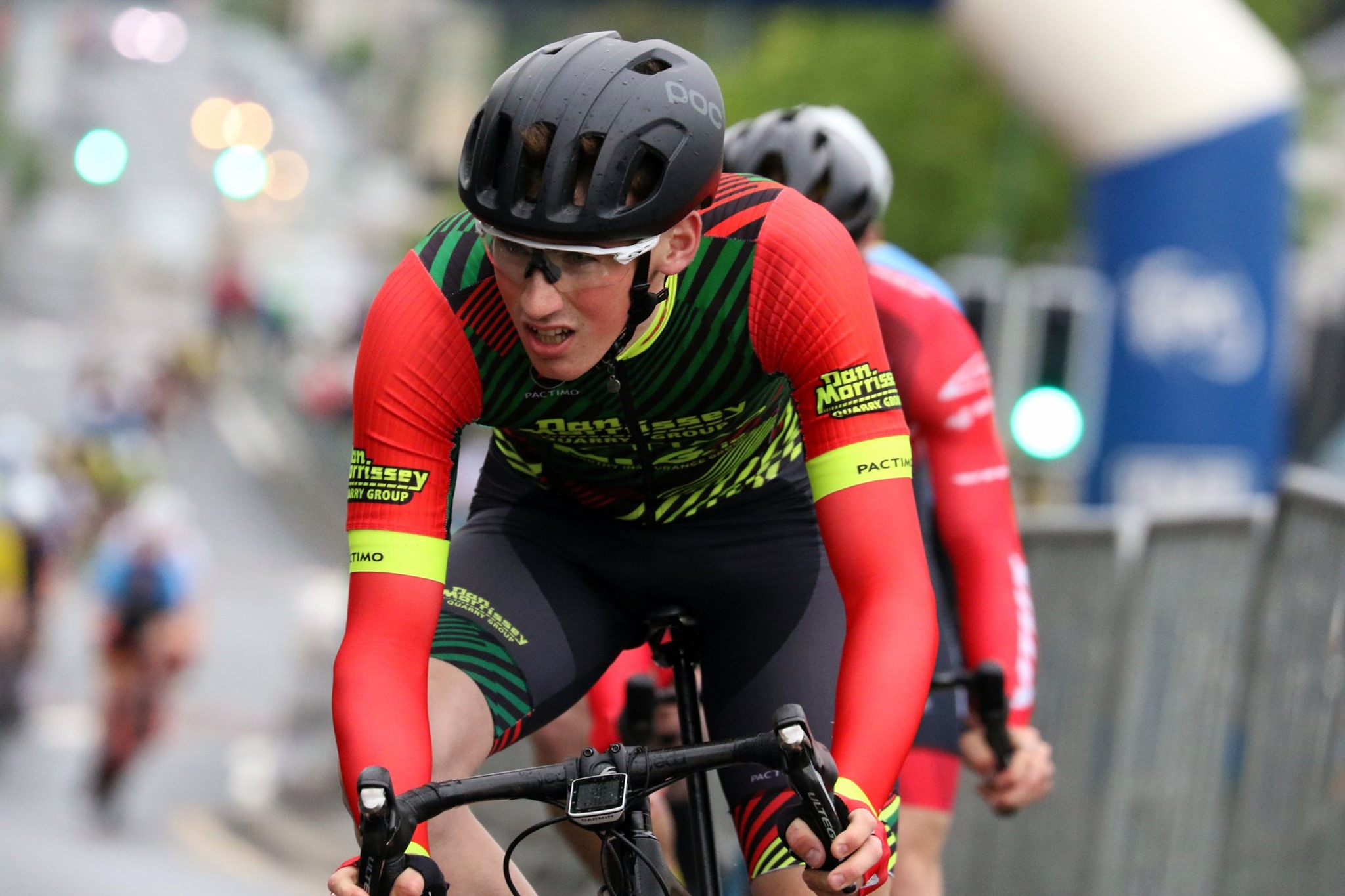 James Curry in action at the recent Ulster Criterium Championships (photo courtesy of Toby Watson)