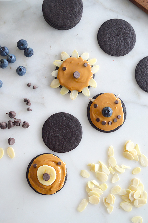 Again, cookie faces! A great way to mix things up and add in a few extra food groups :)