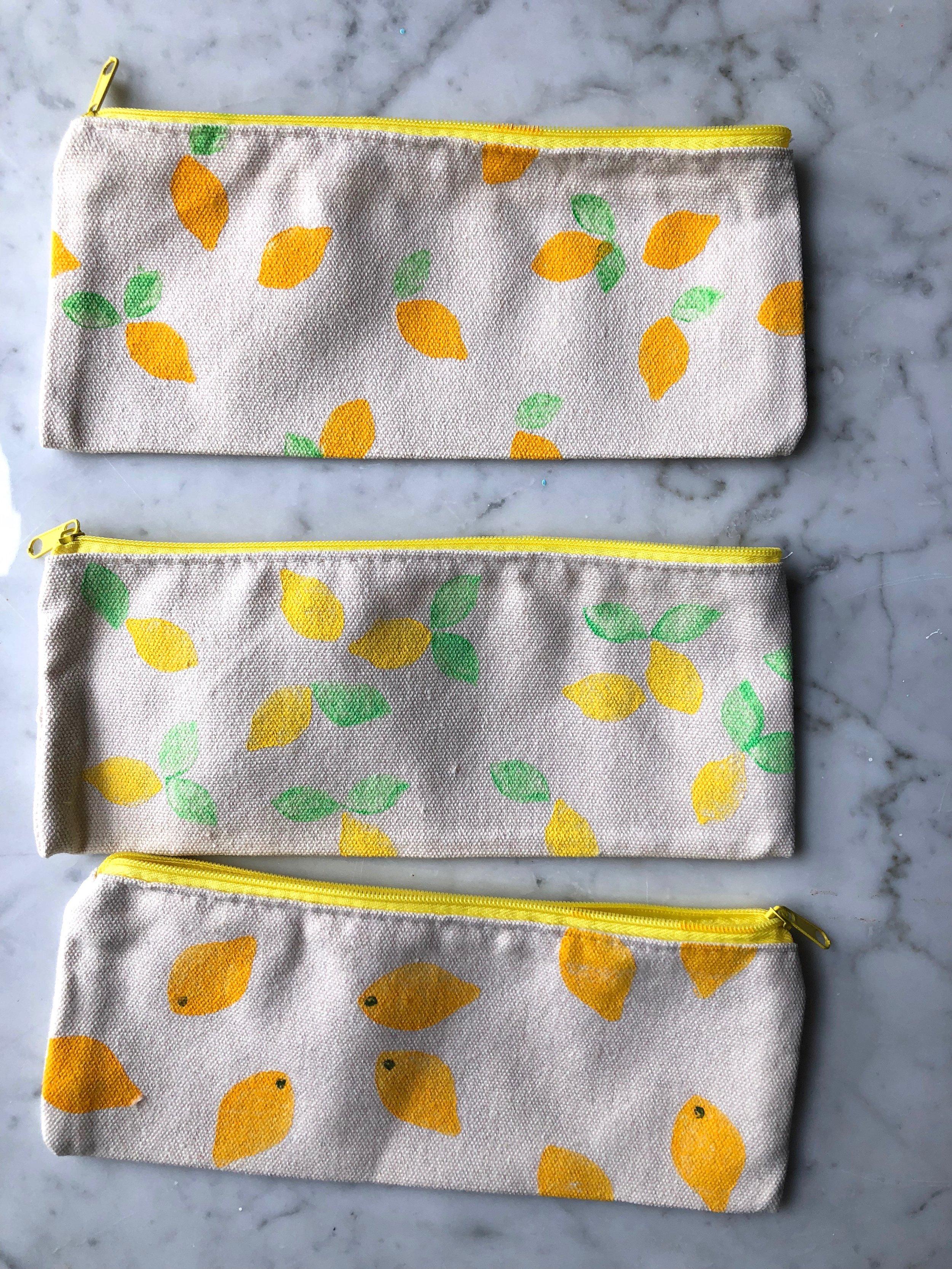 lemon pencil cases