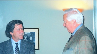 Hatch with David McCullough, November, 1999, courtesy of Thomas Jefferson Foundation