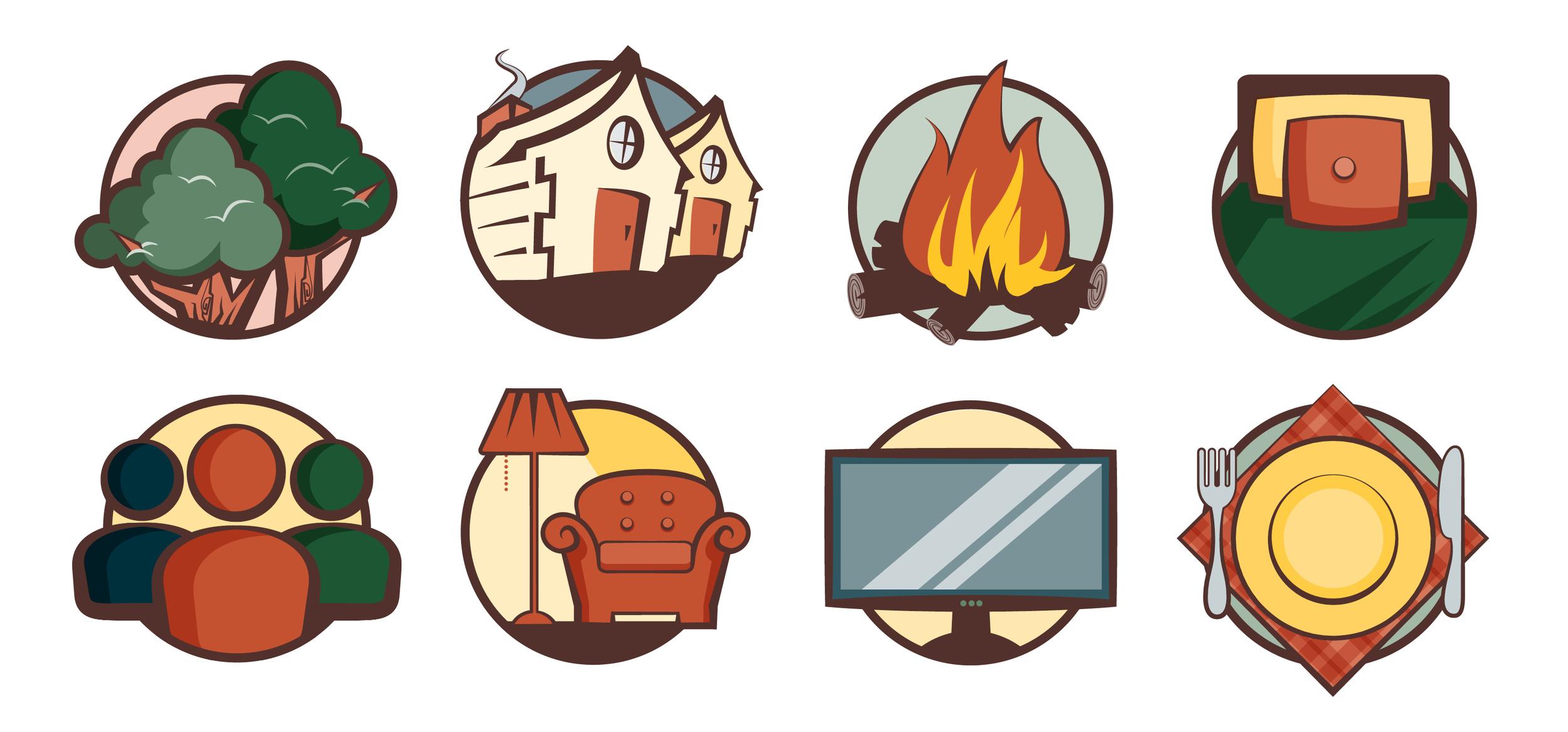 Spot illustrations for the website.