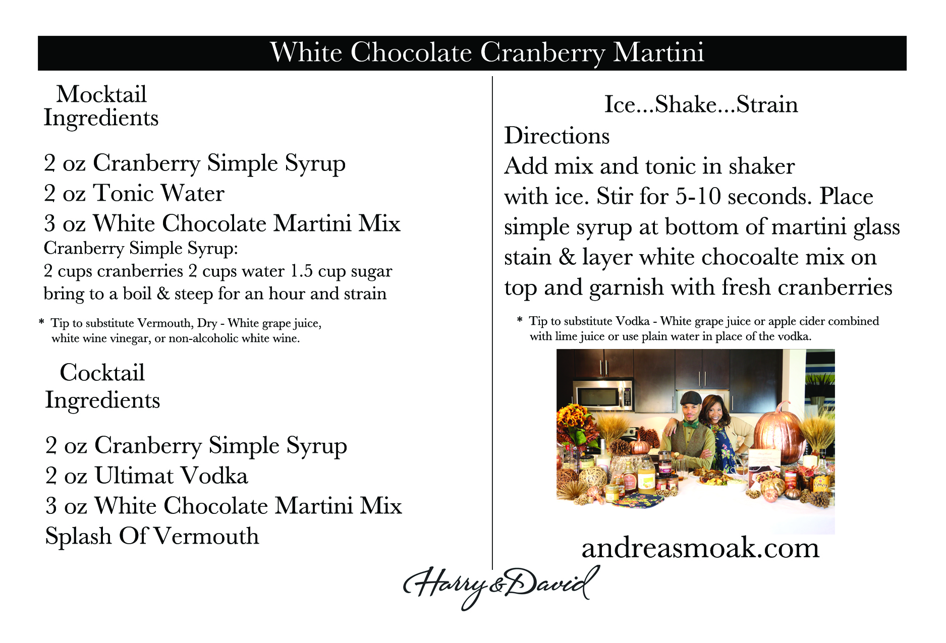 White Chocolate Cranberry Martini