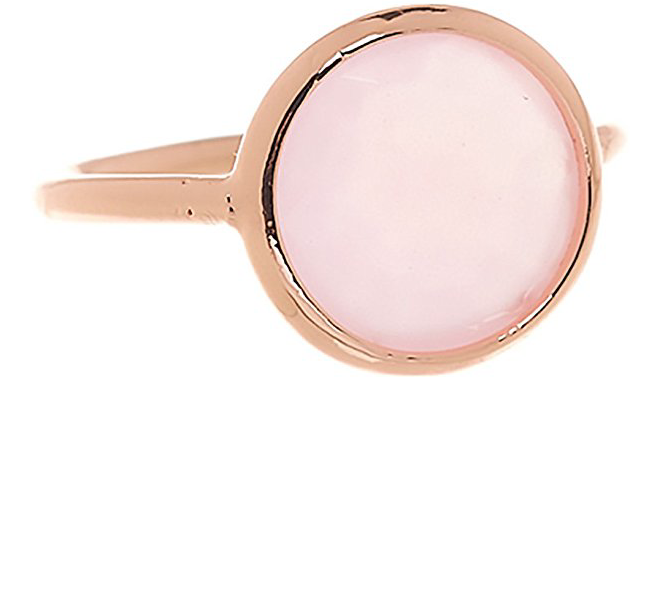 Rose Quartz 18k Rose Gold Clad Wholesale Gemstone Round Ring