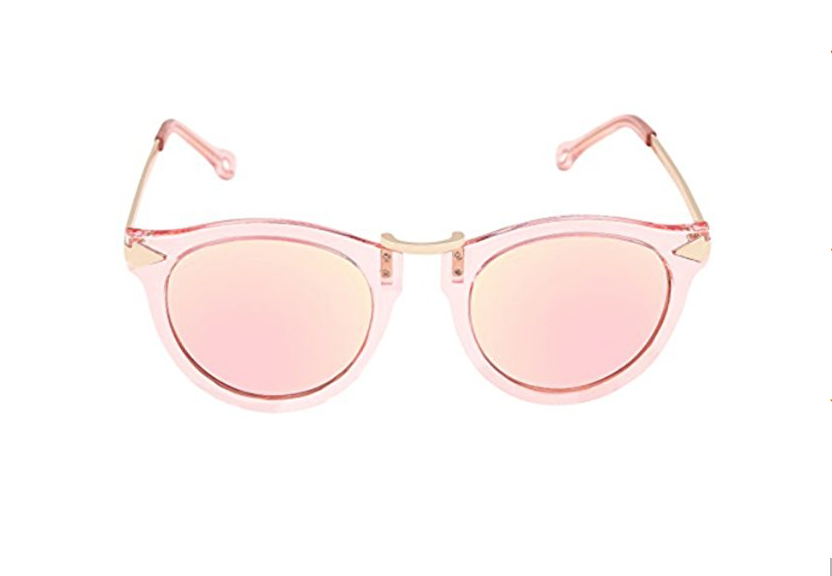 FEISEDY Vintage Arrow Design Polyester Metal Frame Polycarbonate Lenses Women Sunglasses B1101