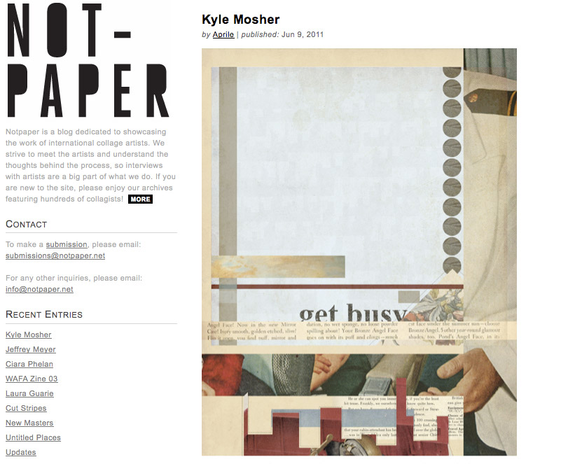 Front Page Feature for Not-Paper Magazine