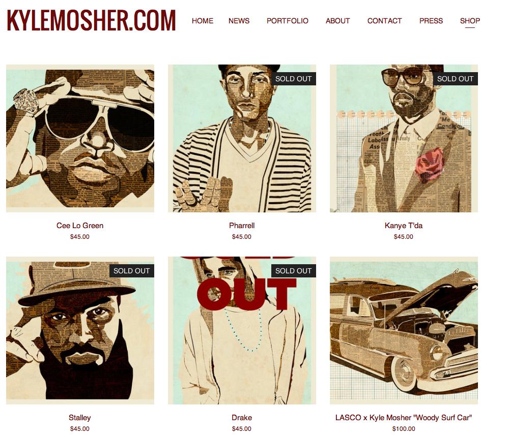 kylemosher.com SHOP page