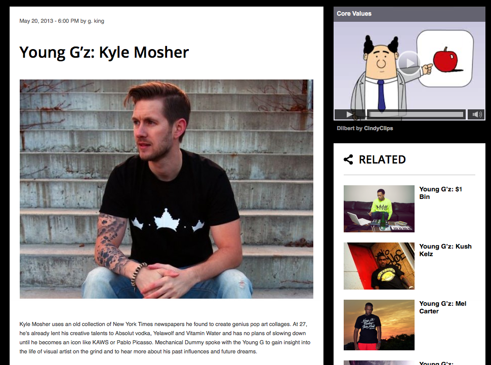 Interview and Feature in Mechanical Dummy