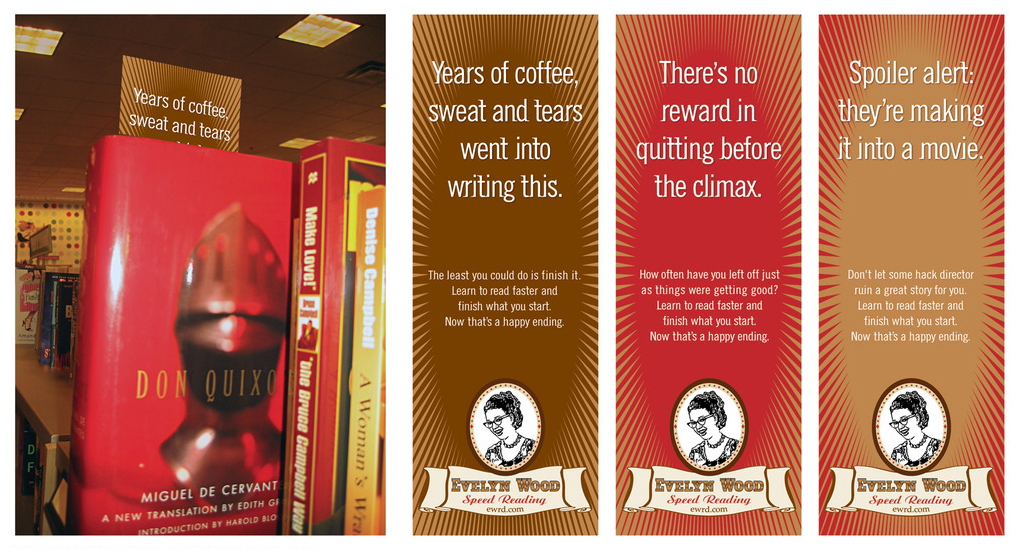 AMBIENT  Bookmarks that would be strategically placed around bookstores.