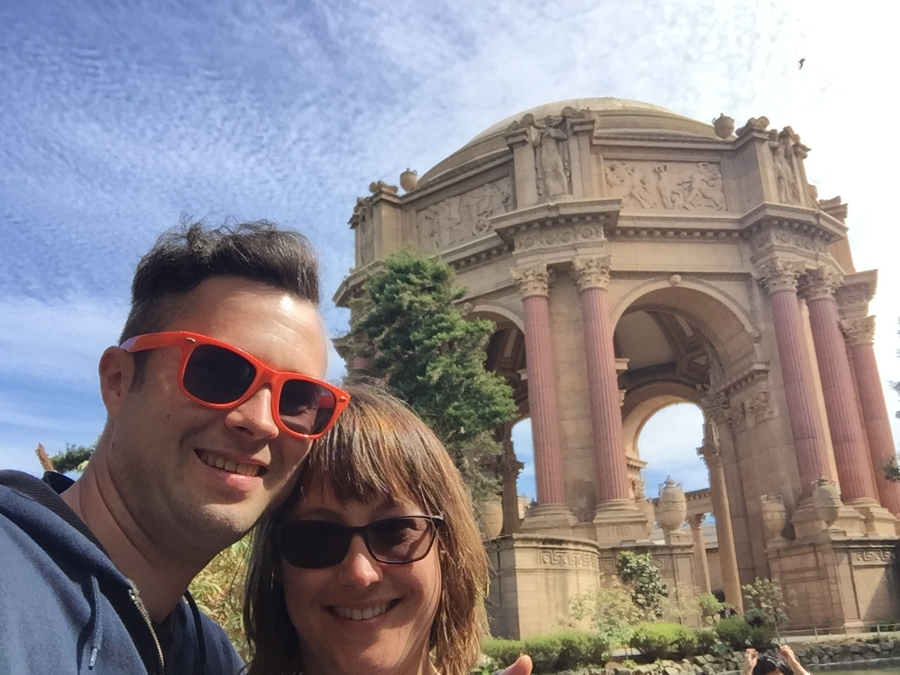 at the palace of fine arts