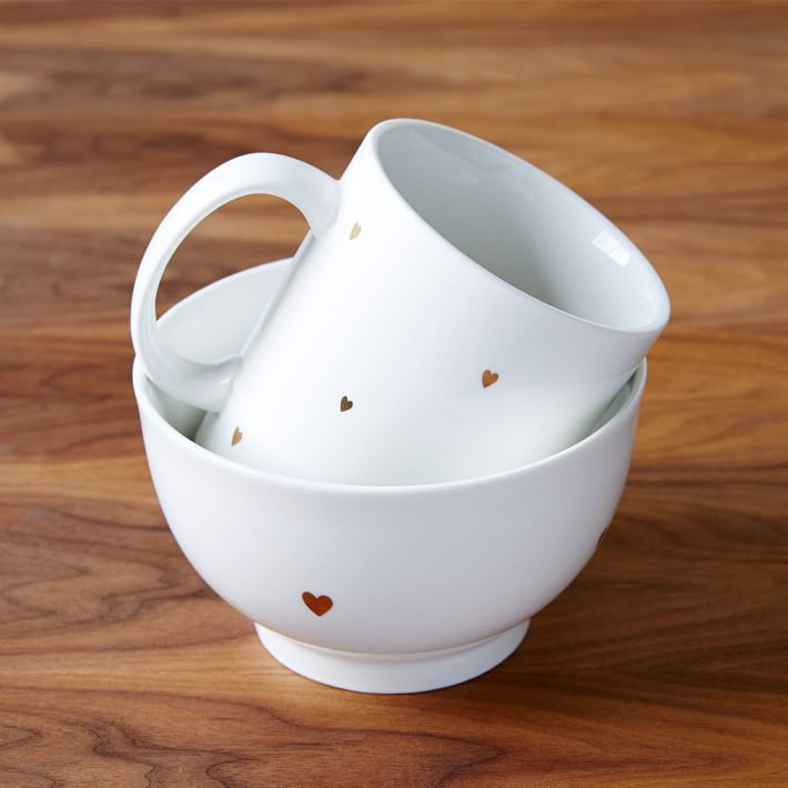 And this might be silly - but I want to have special things for holidays, like these cute valentines day mugs for valentine's day hot chocolate. I don't know, I think it's the details that count.
