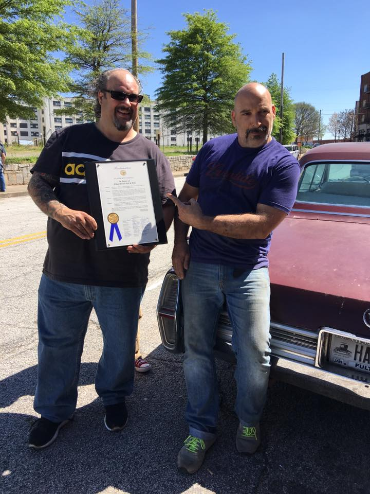 (Michael & Peter Jakob With Their City of Atlanta Proclamation)