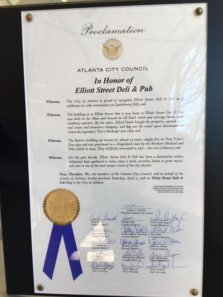 ESP's City Proclamation making April 1 ESP Day.