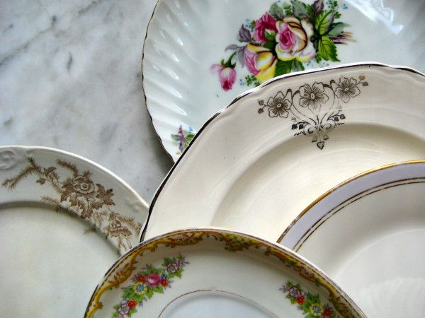 A variety of Vintage plates from the Savoy Flea