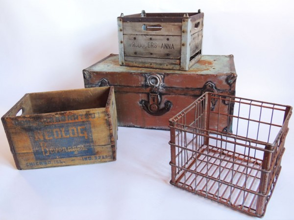 Very cool crates from The Savoy Flea.