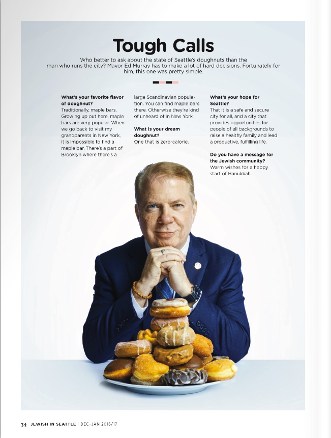 Mayor Ed Murray for Jewish In Seattle Magazine