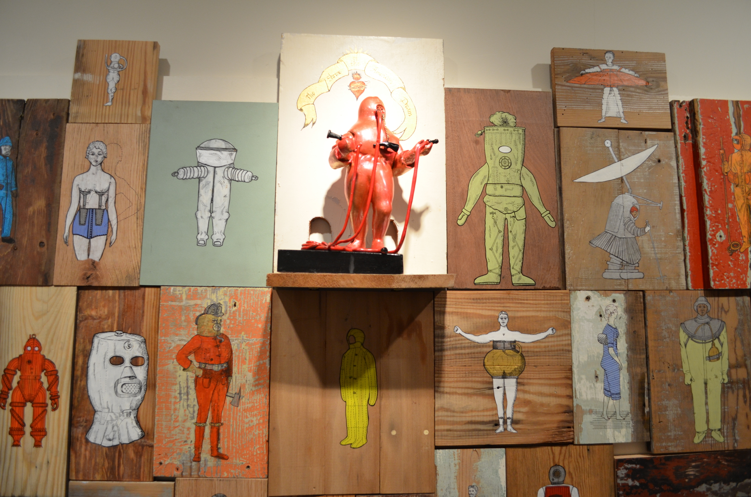 "Detail ""The Shrine of the American Dream"" / Maier Museum Lynchburg, VA."