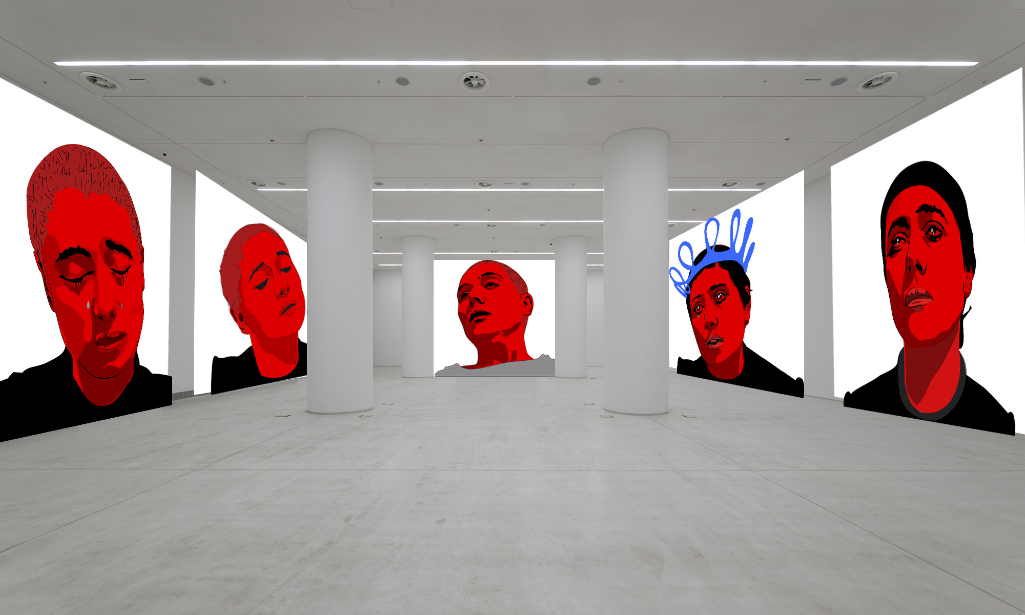 Sketch of the final video Installation