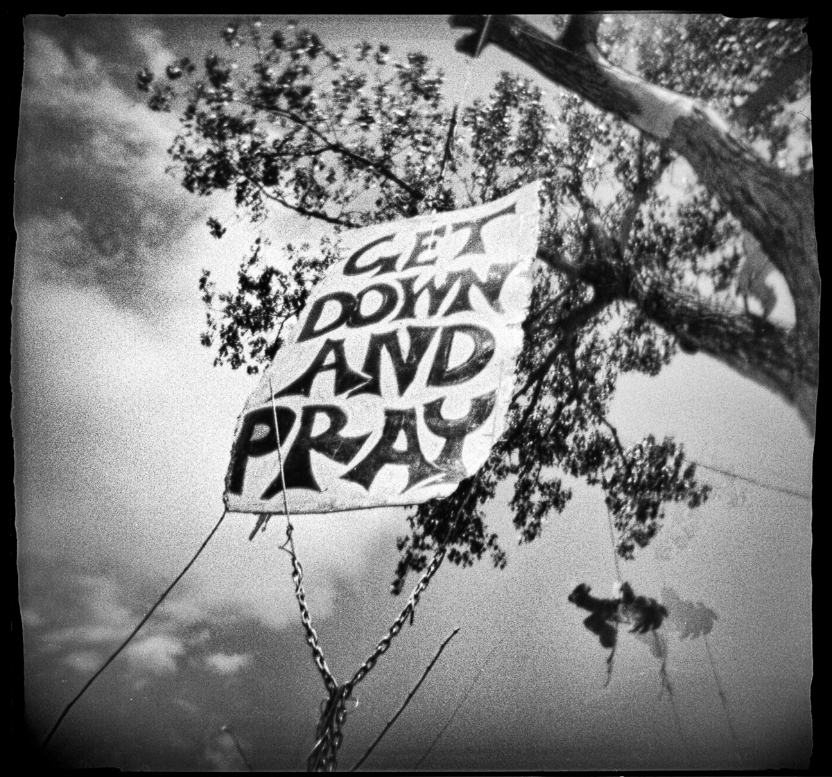 """Hanging Tree: Commandment,"" shot with a Holga camera, was selected for the 2018 Somerville Toy Camera Festival at the Brickbottom Gallery in Boston."