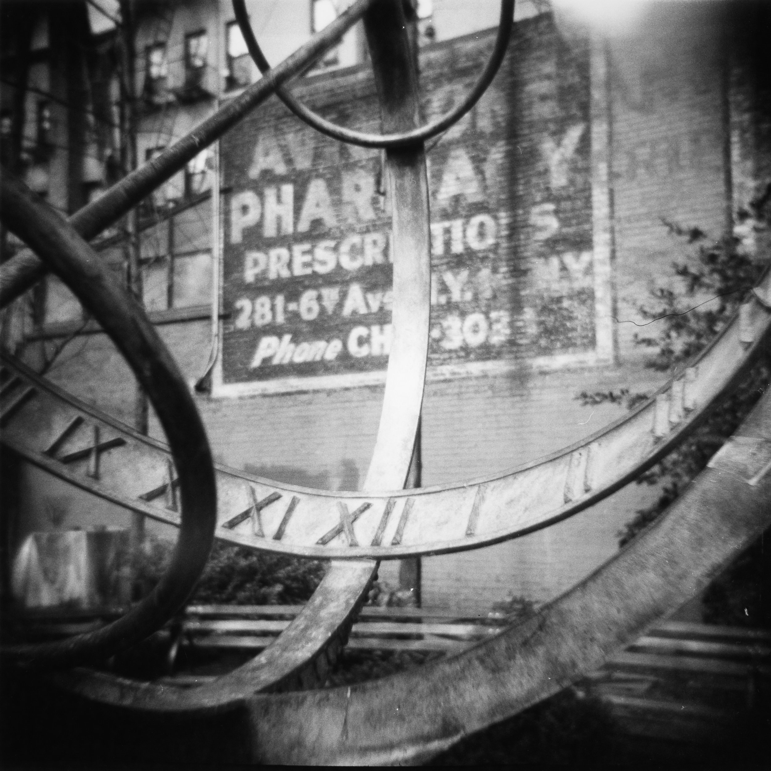 "This year, ""Prescription,"" shot with a Holga, was included in the Plastic Fantastic exhibition at Lightbox Gallery in Astoria, Oregon. This photograph was shot in New York City while I was attending the opening of the Krappy Kamera exhibition."