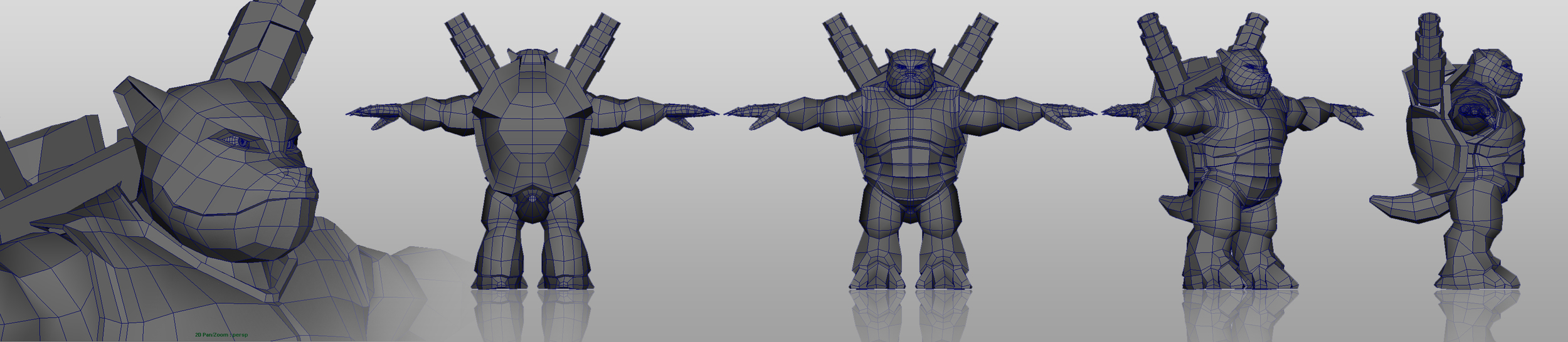 Low-poly Blatsoise - Modeled in Maya