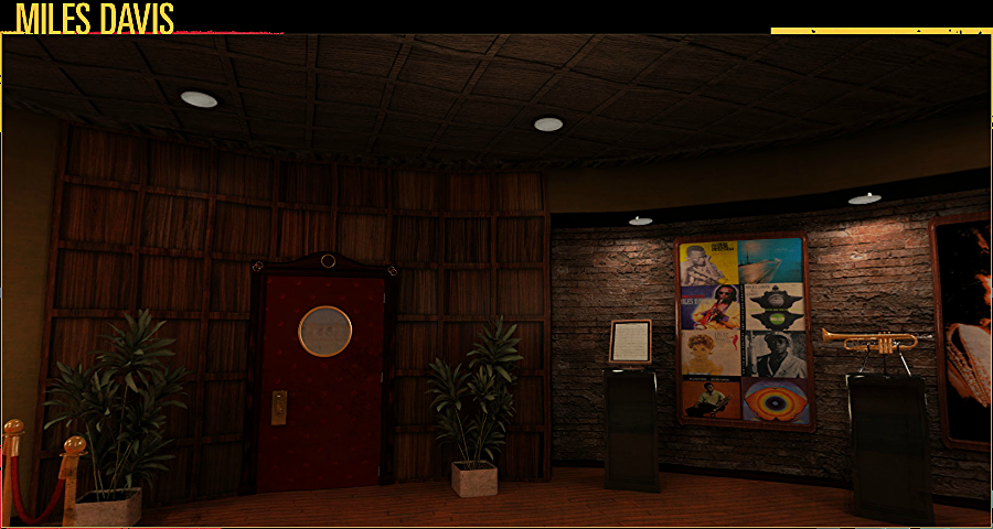 Panoramic room to demo music and art by Miles Davis. Modeled, textured and lit the room. Rendered using  Vray for Maya  Created for Sunshine Learning Systems